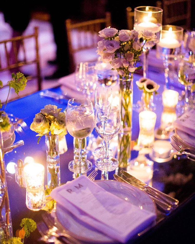 Wedding Planner Key Trends - Mirrored Table Top