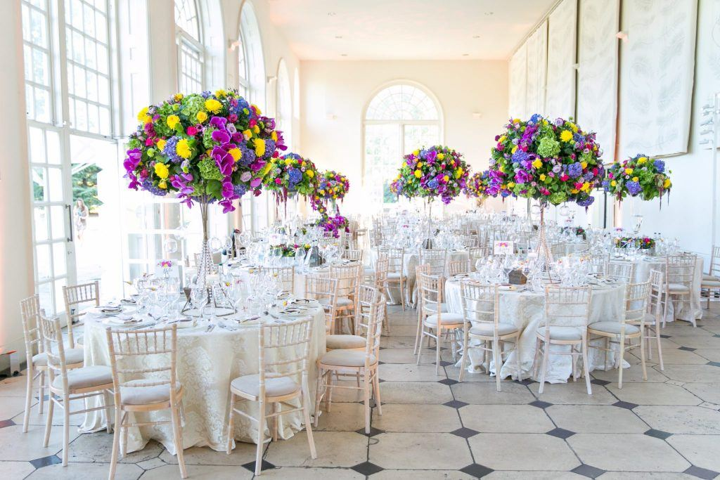 A Bright and Bold Summer Wedding at Kew Gardens