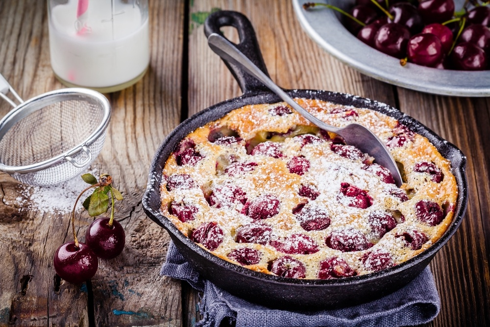 Eating in Season This July - Cooking with Cherries - Cherry Clafoutis