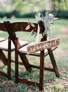 Wedding seating trends